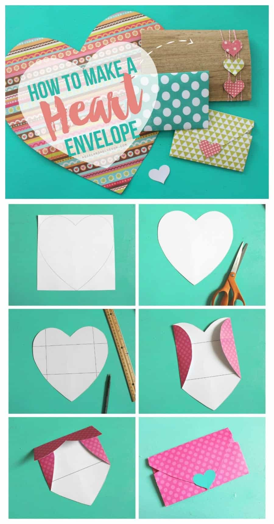 Heart Shaped Envelopes A Girl And A Glue Gun
