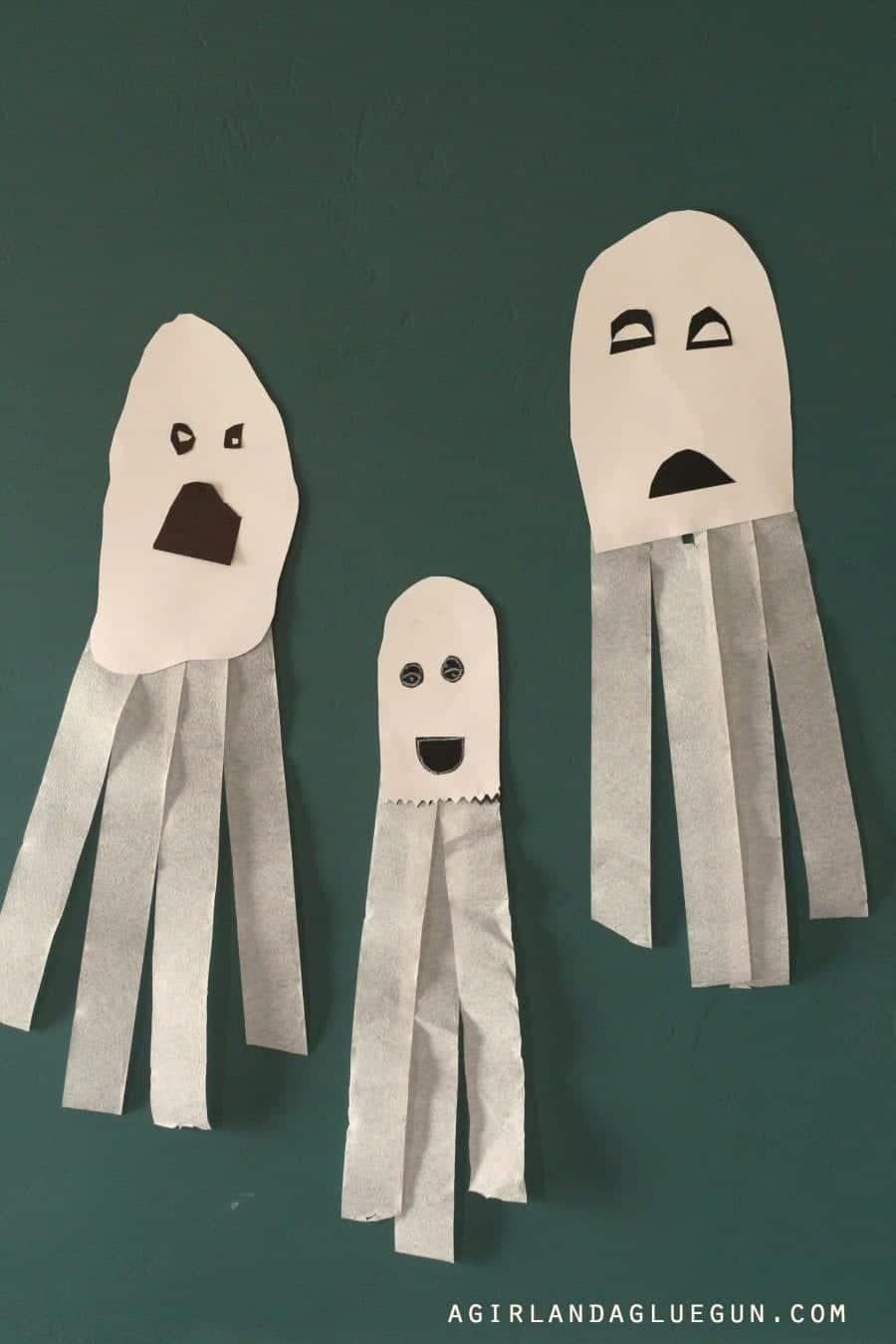 Tissue Paper Ghosts Great Kids Craft A Girl And A Glue Gun