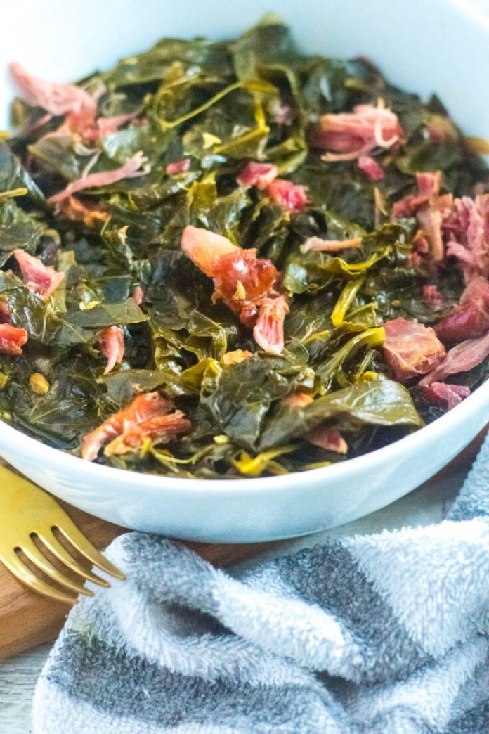 Southern Style Collard Greens With Ham Hocks Keto Low Carb A Girl Called Adri