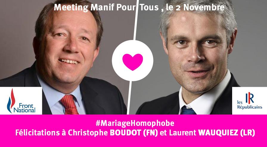 Laurent WAUQUIEZ - Christophe BOUDOT un mariage homophobe