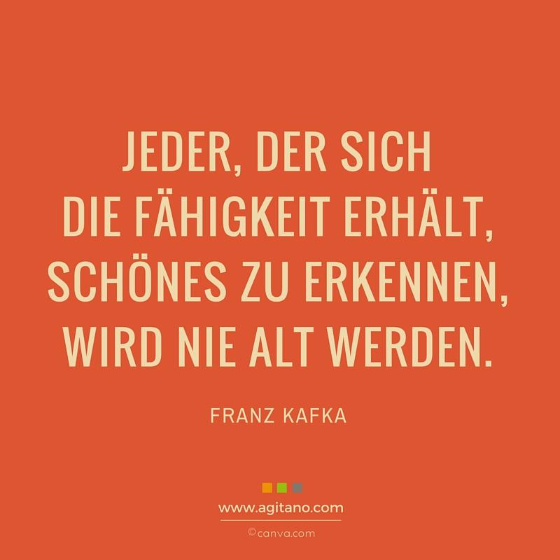 Franz Kafka Jeder Der Sich Fahigkeit Agitano