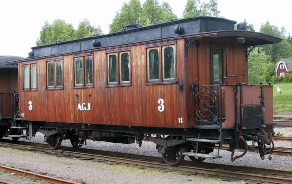 AGJ vagn 12 i Anten. Foto: Patrik Engberg
