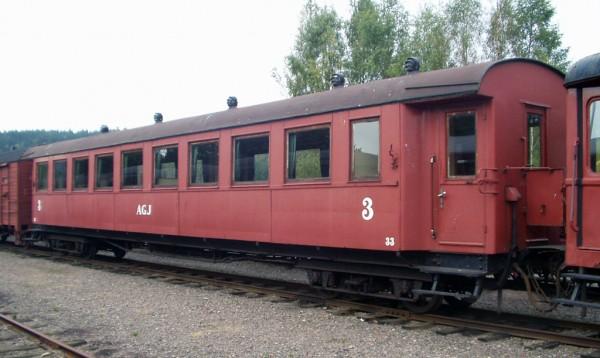 AGJ vagn 32 i Anten. Foto: Patrik Engberg