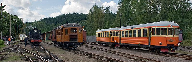 Antens station med motorvagnar. Foto: Stefan Lindberg