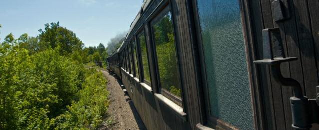 Gamla vagnar som visar hur det var att resa förr. Foto: René Pabst