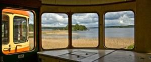 Utsikt över sjön Anten från rälsbuss. Foto: René Pabst