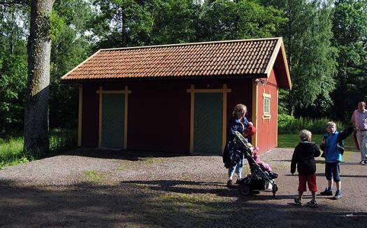 Gästtoaletten i Gräfsnäs. Foto: Patrik Engberg