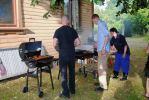 Trivselkväll i Anten, grillmästarna i arbete.