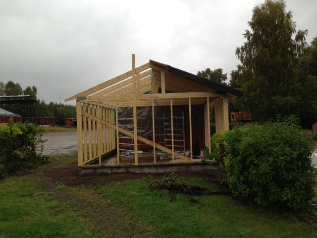 Uthuset i Anten börjar byggas. Foto: Bernt Lindsjö