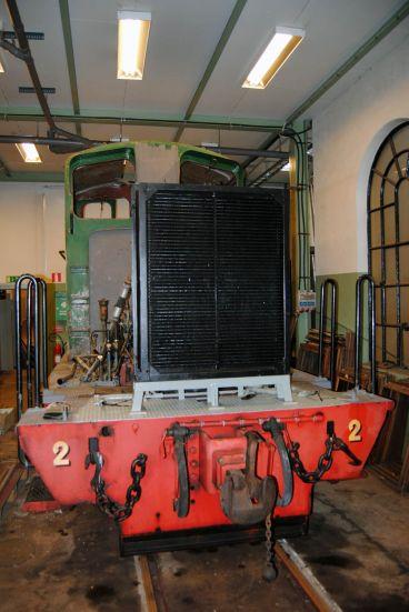 Kylaren på plats på HBA 2 i verkstaden. Foto: Patrik Engberg
