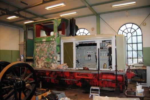HBA 2 i verkstaden innan målning. Foto: Patrik Engberg