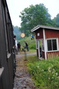 Påstigning vid Arelid. Foto: Patrik Engberg