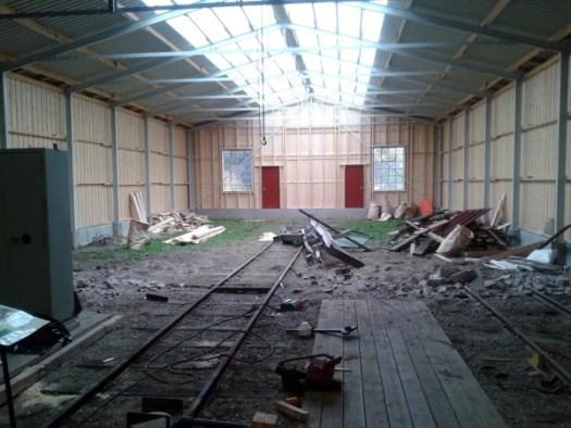 Museihallen invändigt efter bygget. Foto: Lars Johansson