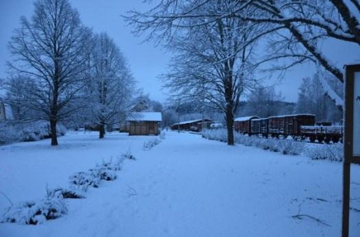 Vintern har kommit till Anten. Foto: Yngve E