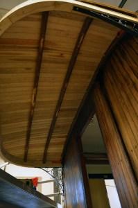 Nya taket är snart klart. Foto Yngve CG