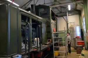 Fönstermontering på HBA 2. Foto: Yngve CG