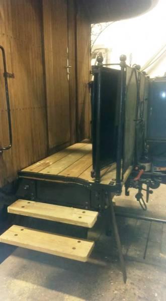 Plattformsarbete på vagn 22. Foto: Christian Merking