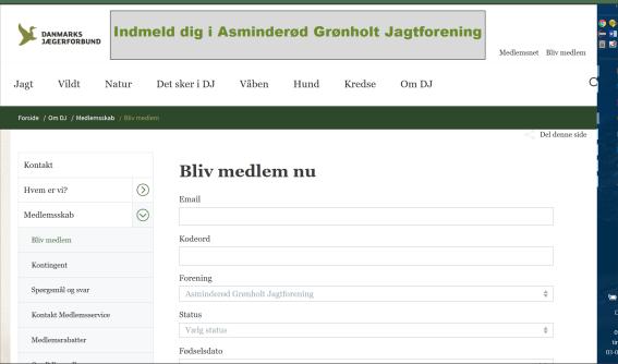 Meld dig in I Asminderød grønholt Jagtforening