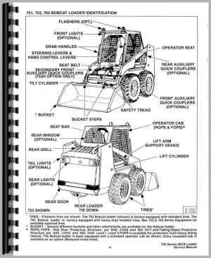 Bobcat 753 Skid Steer Loader Service Manual