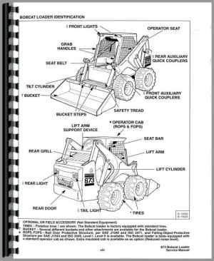 Bobcat 873 Skid Steer Loader Service Manual