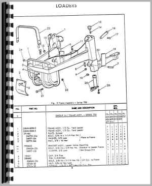 Ford 3400 Industrial Tractor Loader Attachment Parts Manual
