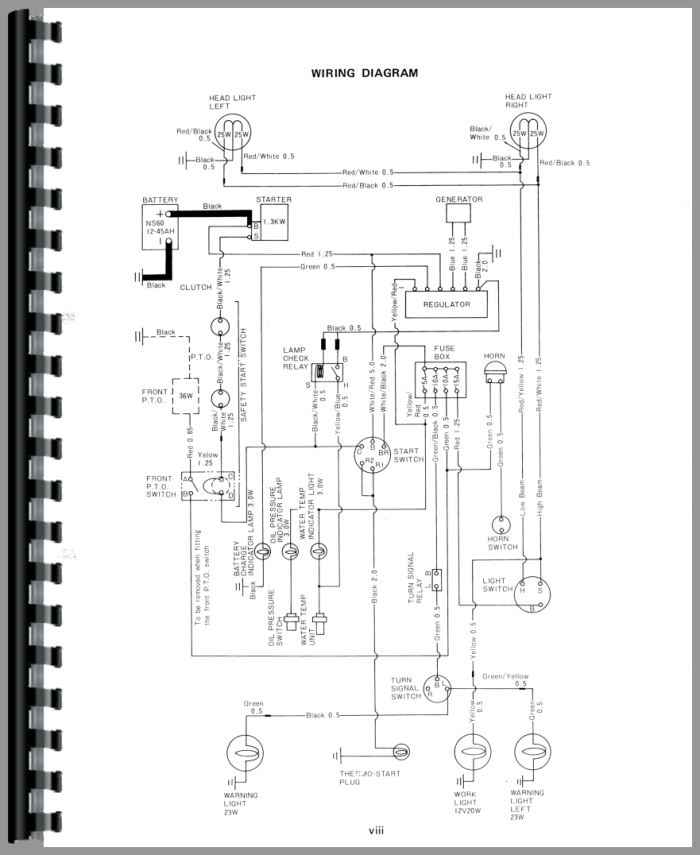 ford 1700 sel tractor wiring diagram
