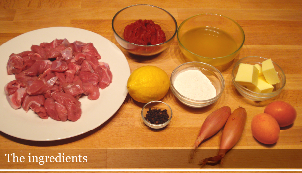 Veal Fricasèe - the ingredients
