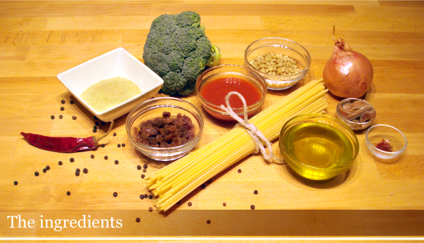 "Pasta ""arriminata"" Palermo style - the ingredients"