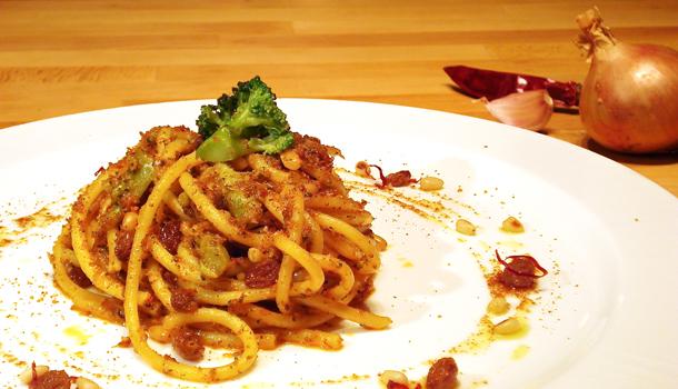 "Pasta ""arriminata"": bucatini Palermo style"