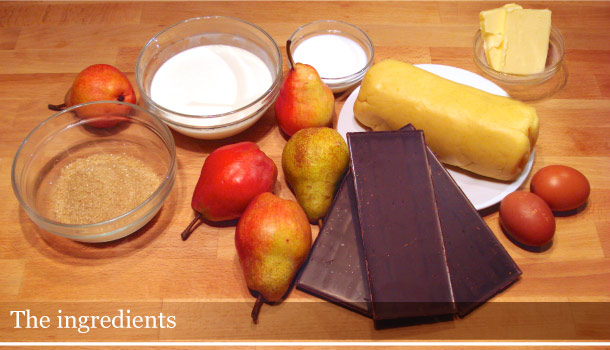 Chocolate and pears tart - Crostata alle pere e cioccolata: the ingredients