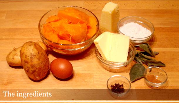 Pumpkin gnocchi - Gnocchi di zucca: the ingredients