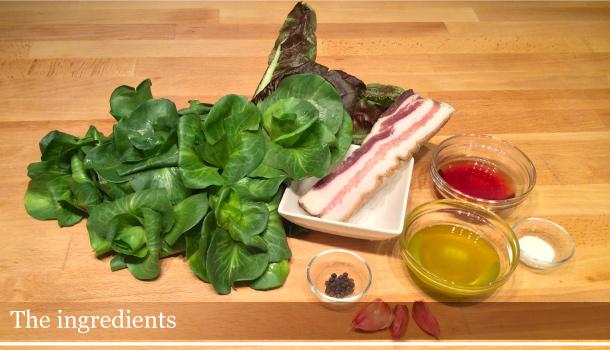 "Radicchio with Fried Crispy Bacon"" recipe"