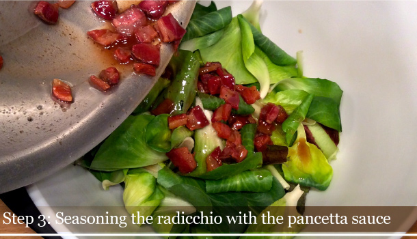"Radicchio with Fried Crispy Bacon"" recipe"