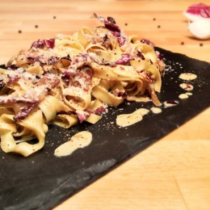 """Tagliatelle with Red Radicchio of Treviso"" recipe"