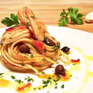 """Linguine with Ray Wings"" recipe"