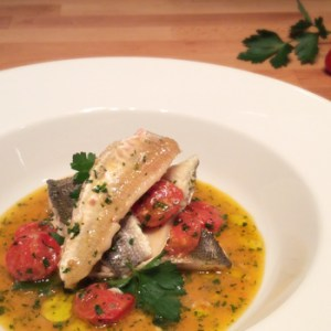 """Poached Fish in Wacky Water"" recipe - ""Acqua Pazza"""
