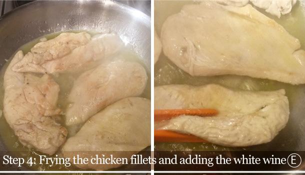 """""""Chicken Breasts with Olives and Cream"""" recipe - """"Petto di Pollo con Panna e Olive"""""""