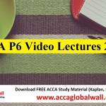 ACCA P6 Video Lectures 2017