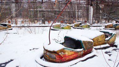 Amusement park rides inside the Chernobyl exclusion zone
