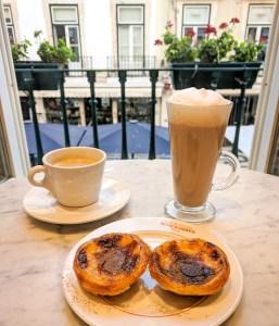 Pastel de nata in a Lisbon cafe, Portugal
