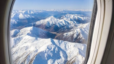 Flying into Queenstown NZ