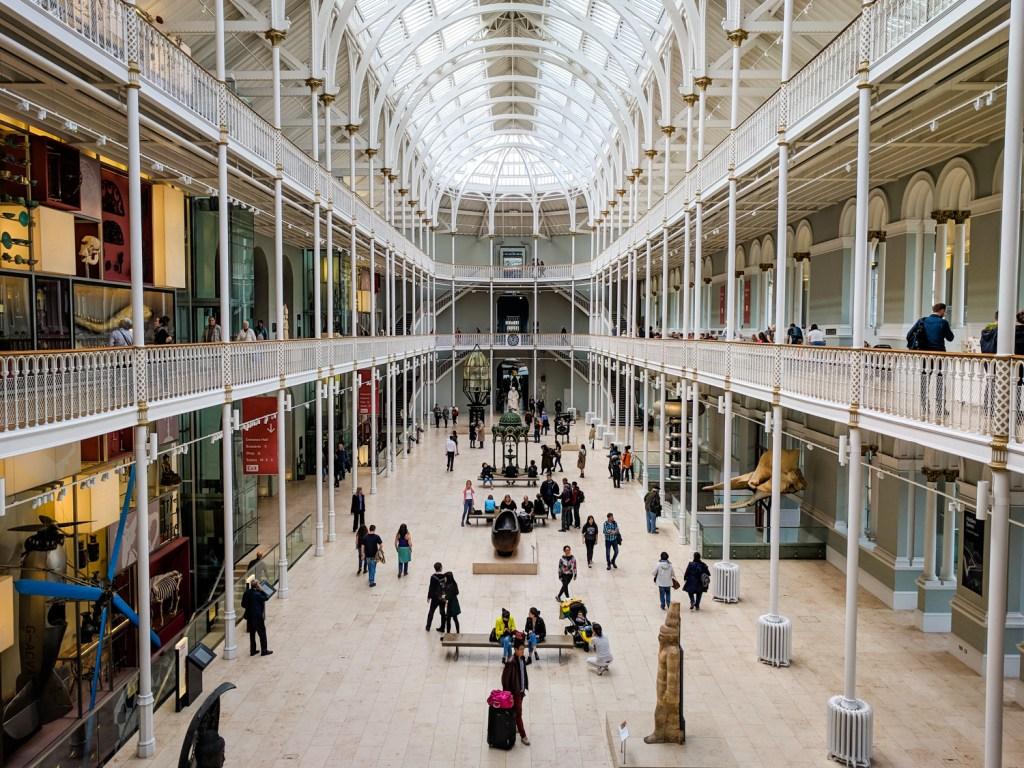 Grand Gallery atrium at the National Museum of Scotland in Edinburgh