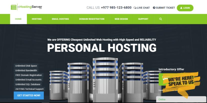 eHosting Server
