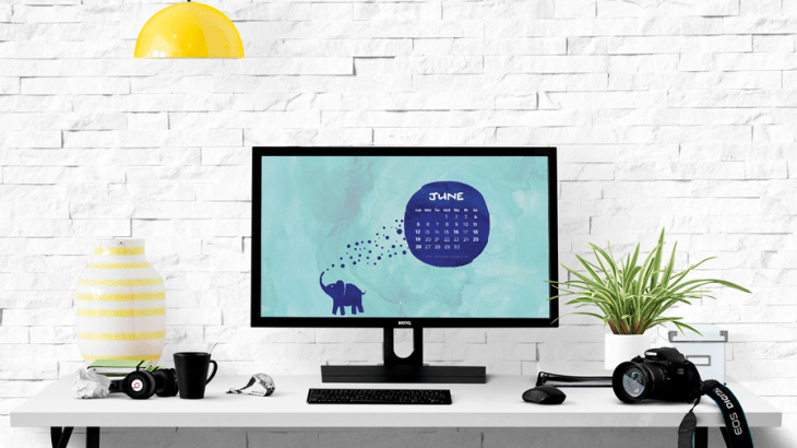 June 2016 Calendar Wallpaper Desk