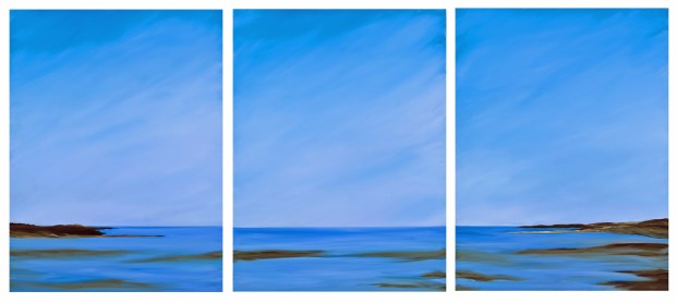 Both Sides Now, 40 x90 triptych
