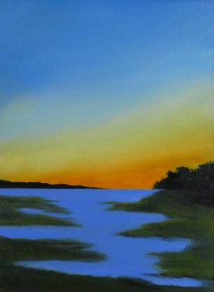 Last Light 12 x9 oil on canvas board