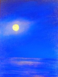 Night Light 12 x 9 oil on canvas panel