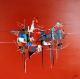 Rouge pictural 2 70x70