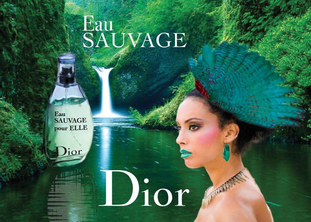 Affiche publicitaire pour une marque de parfum
