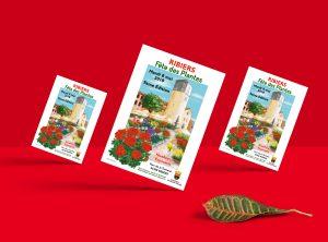 """Affiche & Flyer réalisé pour la fête des plantes de l'Association """"La fleur de Ribiers"""""""